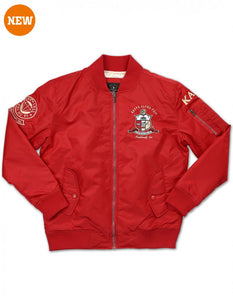KAPPA ALPHA PSI RED DECORATED BOMBER