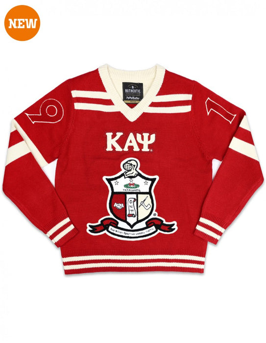 Kappa Alpha Psi Chenille Shield V-neck Sweater