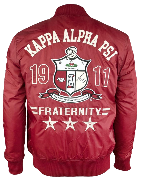 Kappa Alpha Psi Show Off Crimson Bomber Jacket