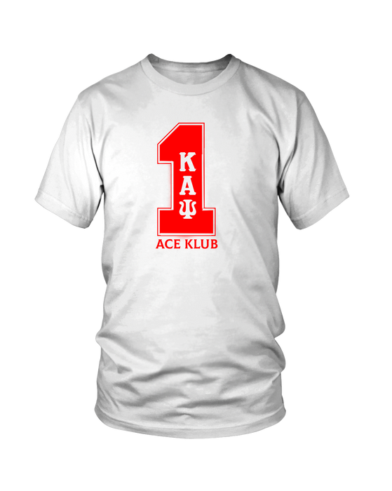 Kappa Alpha Psi White Line Number T-Shirt 1-10