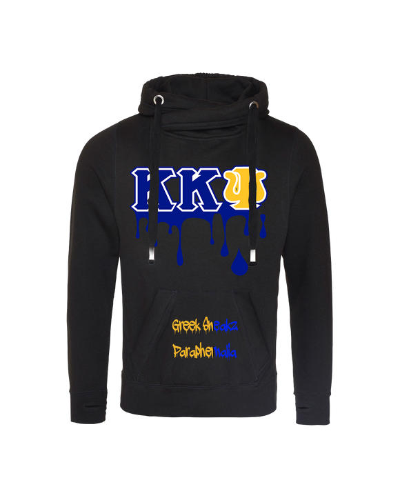 Kappa Kappa Psi Cross Over Neck Hooded Sweatshirt