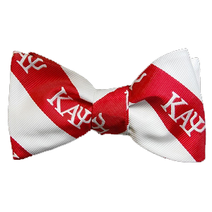 Kappa Alpha Psi Striped Bow Tie - Handkerchief Set