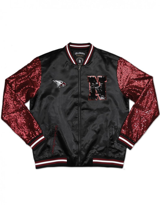 NORTH CAROLINA CENTRAL UNIVERSITY SEQUINS SATIN JACKET