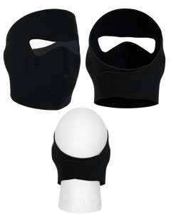 Black Neoprene Full Face Mask
