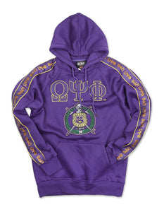OMEGA PSI PSI SLEEVE LETTERS PULLOVER HOODIE