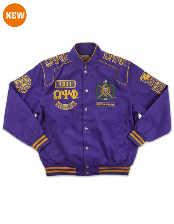 Omega Psi Phi Twill Racing Jacket