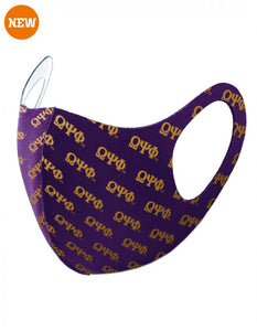 OMEGA PSI PHI 3D GREEK LETTER PATTERN BREATHABLE FACE MASK
