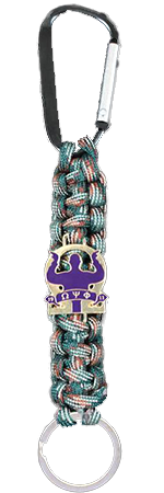 Omega Psi Phi Camouflage Paracord Key Chain