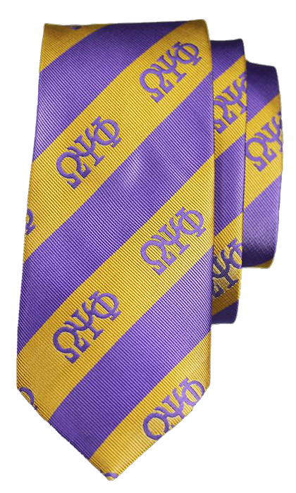 Omega Psi Phi Imitation Silk Neck Tie