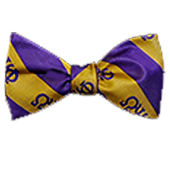 Omega Psi Phi Striped Bow Tie - Handkerchief Set