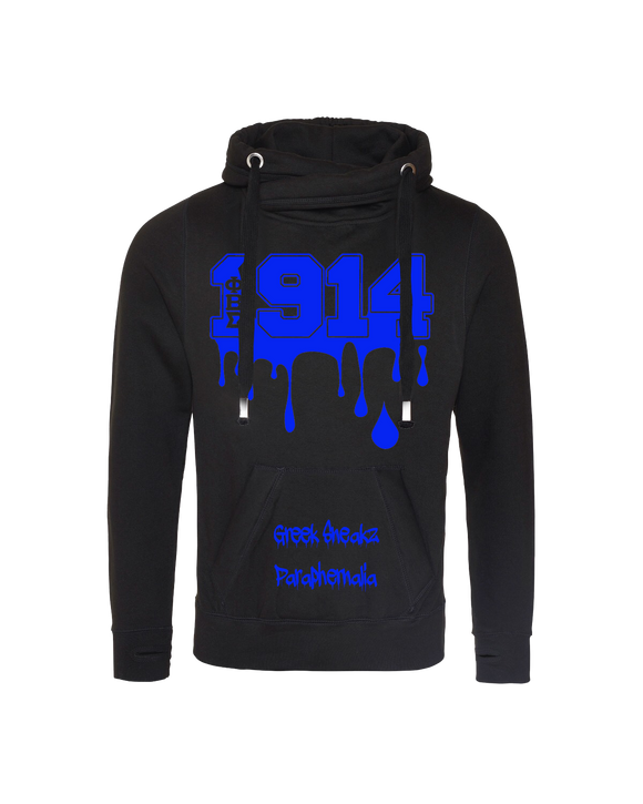 Phi Beta Sigma Cross Over Neck Hooded Sweatshirt