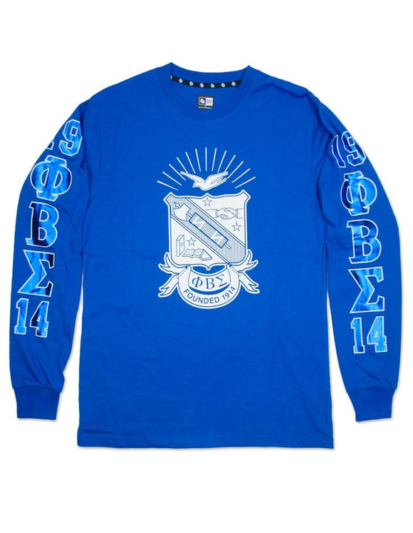Phi Beta Sigma Rounded Shield-Graphic Sleeves T-Shirt