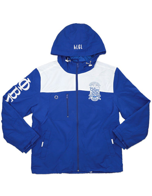 Phi Beta Sigma Hooded Wind Breaker