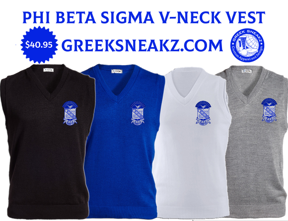 Phi Beta Sigma V-Neck Sweater Vest