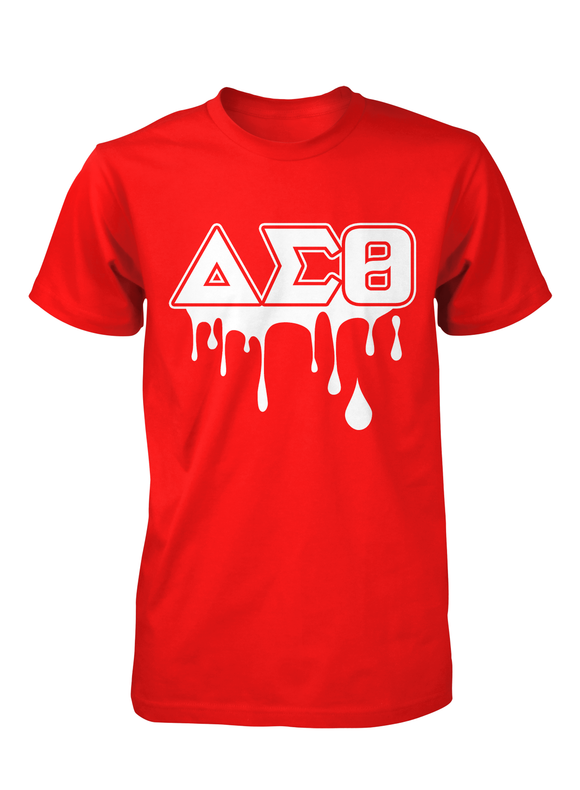 Delta Sigma Theta Crew Neck Drip Collection T-Shirts