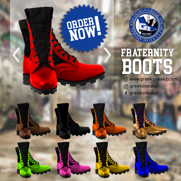 Greek Sneakz Customized Fraternity Boots