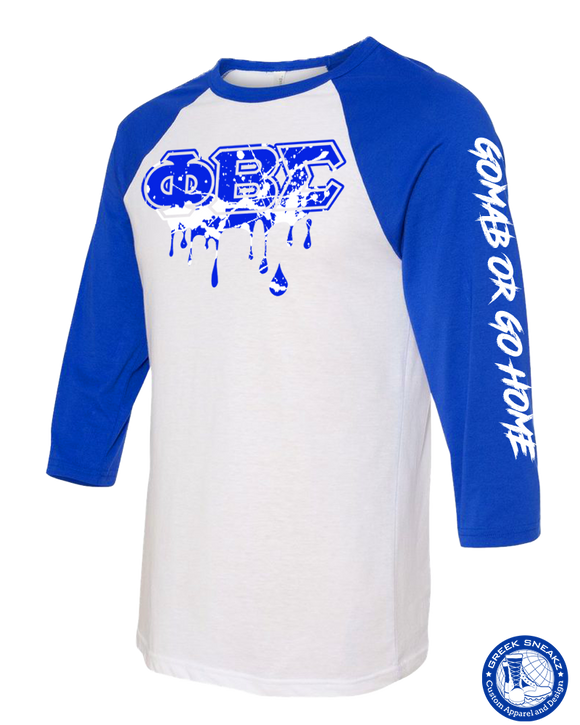 PBS Baseball Drip Splatter T-Shirt