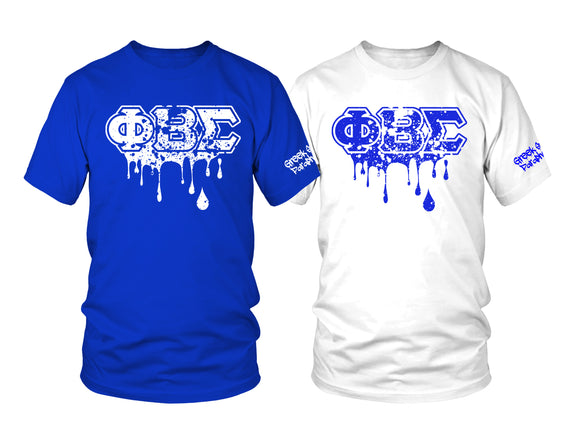 Phi Beta Sigma Splatter Drip Set T-Shirts