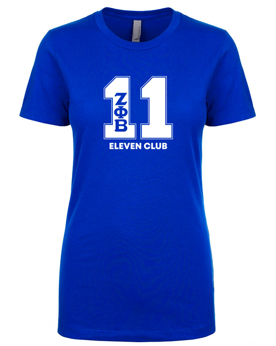 Zeta Phi Beta Line Number T-Shirt Ladies Cut (Royal Blue)
