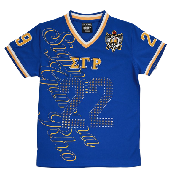 Sigma Gamma Rho V-Neck Shield Football Jersey