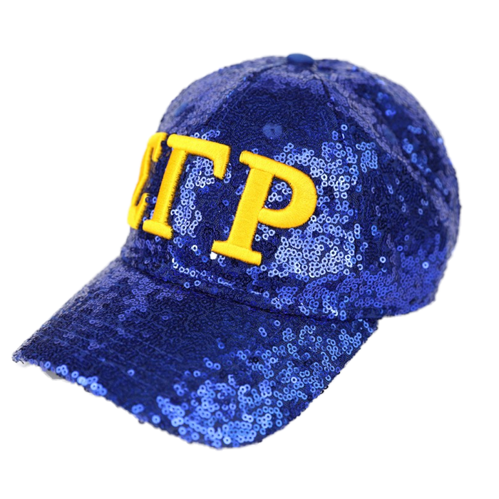 Sigma Gamma Rho Greek Letter Sequin Hat