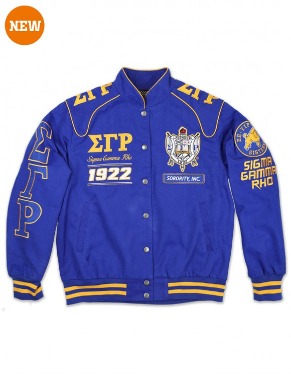 Sigma Gamma Rho Twill Racing Jacket
