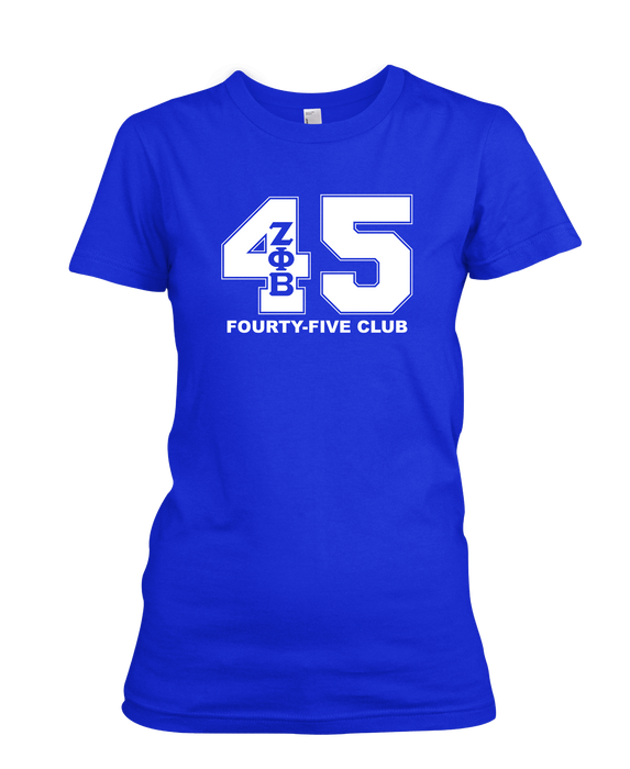 Zeta Phi Beta Royal Line Unisex T-Shirts (36 - 47)