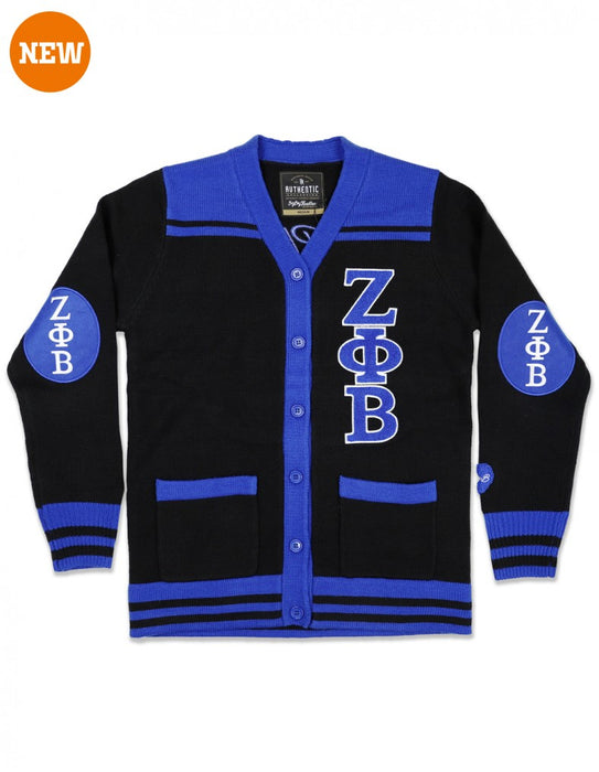 Zeta Phi Beta Elbow Patch Cardigan