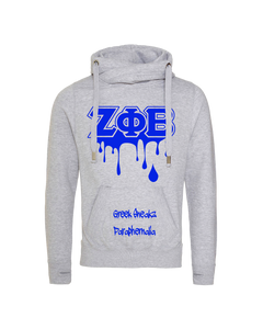 Zeta Phi Beta Cross Over Neck Hoodie