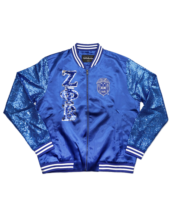 Zeta Phi Beta Royal Sequin Jacket