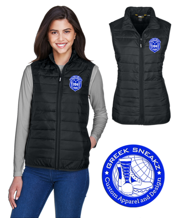 Zeta Phi Beta Ladies Shield Puffer Vest