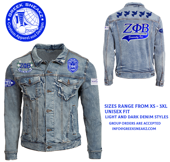 Zeta Phi Beta Denim Jean Jacket