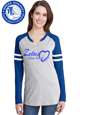Official Zetas Have Heart Gameday T-Shirts