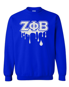 Zeta Phi Beta Bling Drip Sweatshirt