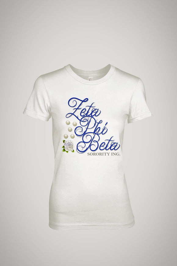 Zeta Phi Beta 5 Pearls T-Shirt