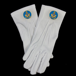 White Gloves W/International Mason Emblems