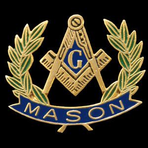 Mason Wreath Lapel Pin- 3/4""