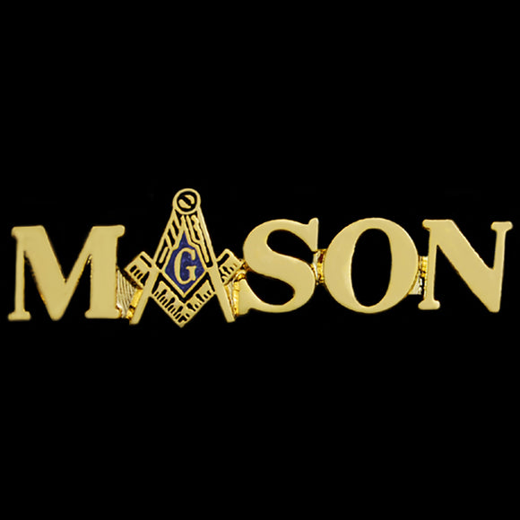 Mason Lapel Pin W/Logo ''A'' In Gold