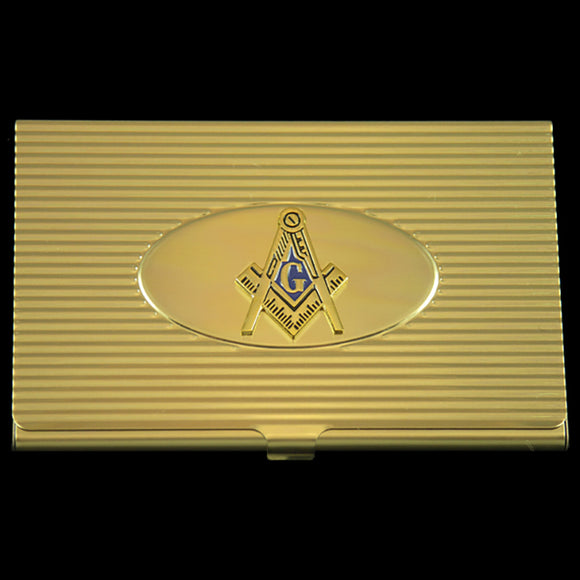 Mason Crest Business Card Holder In Gold