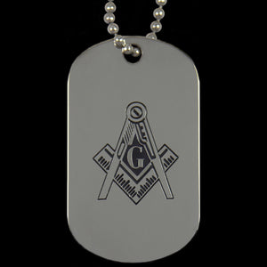 Mason PHA Silver Double-Sided Dogtag W/Chain