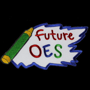 "OES 5"" W Future Emblem W/Heat Seal Backing"