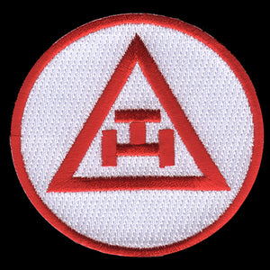 Mason Triple Tau Emblem W/Heat Seal Backing - 2 3/4""