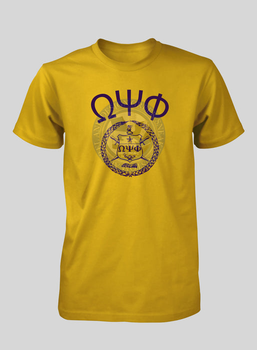 Omega Psi Phi First Shield w/ Letters