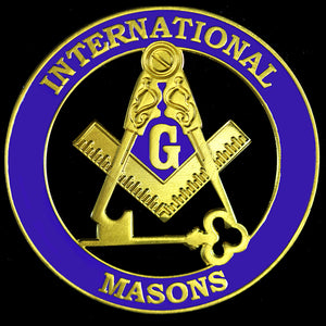 International Mason Cut Out Car Tag - Discoloration