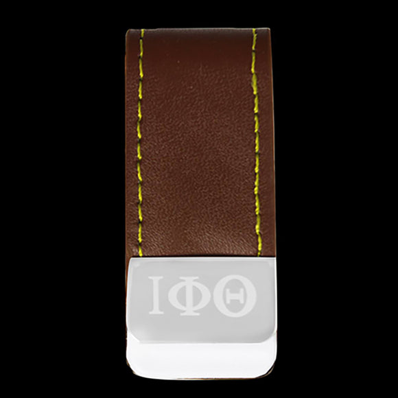 IPT Leather Money Clip W/Laser Engraved Logo