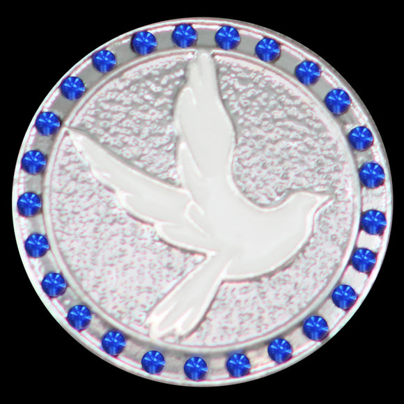 ZPB Single Snap Button With Crystals - Dove