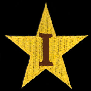 "IPT 2 7/8""T Star Emblem Gold W/Heat Seal Backing"