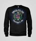 Omega Psi Phi Badge Long Sleeve T-Shirt