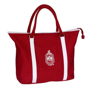 Delta Sigma Theta Shield Canvas Tote Bag