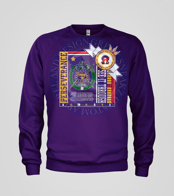 Omega Psi Phi Dawg Long Sleeve Performance T Shirt Greek Sneakz